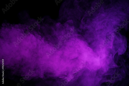 Garden Poster Smoke Abstract purple smoke hookah.