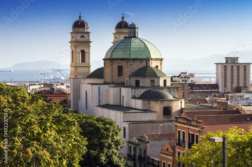 Fotografie, Obraz Panorámica de Cagliari, Cerdeña, Italia