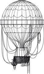 Plakat Old Air Balloon