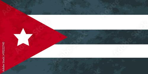 Fotografie, Obraz  True proportions Cuba flag with texture