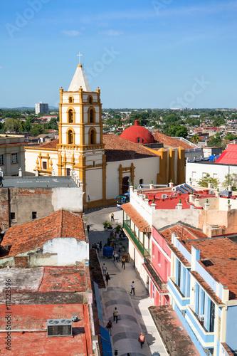 Stickers pour porte Pierre, Sable Iglesia De Nuestra Señora De La Soledad, Camagüey, Kuba