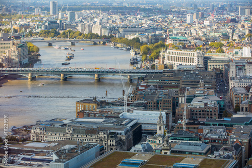 Keuken foto achterwand Seoel London panorama Westminster side of the city. View include River Thames and bridges