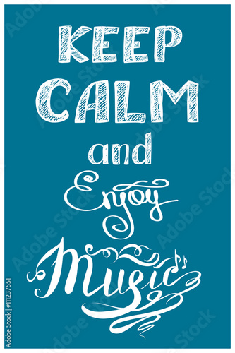 Fototapeta keep calm and music
