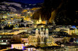 Panoramic view to the north of the historic city of Salzburg at
