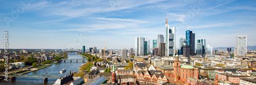 Skyline von Frankfurt am Main, Deutschland, Panorama Canvas Print
