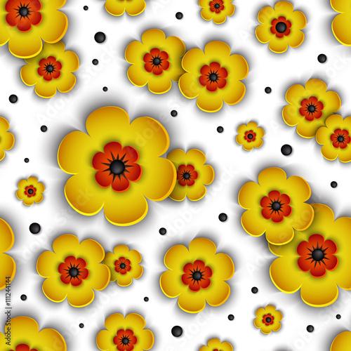3d-bezszwowy-wzor-z-zoltymi-kwiatami-na-bialym-tle-piekny-kwiatowy-tlo-wektor-lato-jesien-wiosna-v
