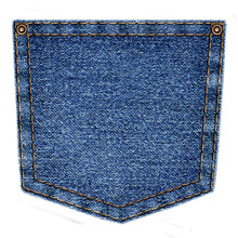 Simple Blue Jeans Pocket Isola...