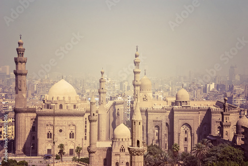 view of Cairo from the saladin citadel Egypt