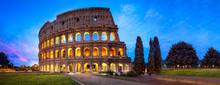 Kolosseum In Rom Panorama Bei ...