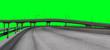 Leinwanddruck Bild - City Autobahn Highway on a Greenscreen for a easy cutout