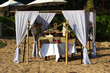 decoration for romantic ceremony on the beach