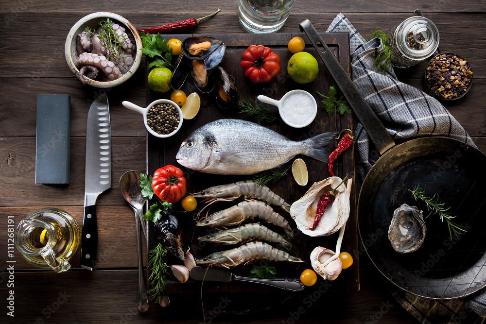 Photo  Meeresfrüchte und Fisch