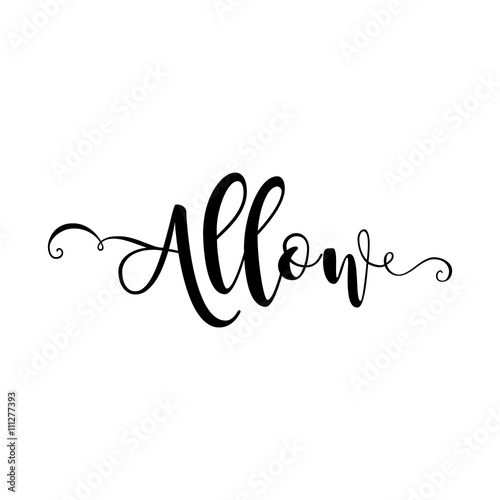 Allow  Verb English  Beautiful greeting card with