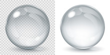 Big Transparent Glass Sphere A...