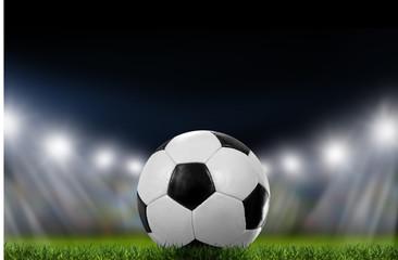 Fototapeta na wymiar Fußball im Stadion