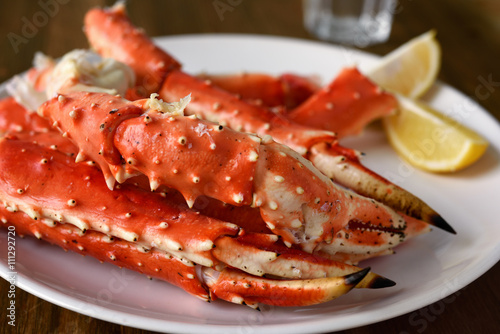 Photo  Red king crab legs