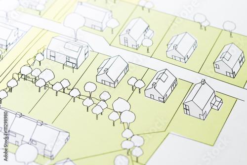 Türaufkleber Darknightsky Urban Planning