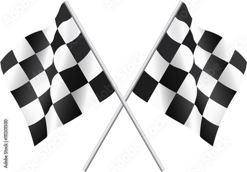 Waving Checkered Flags - 111301500