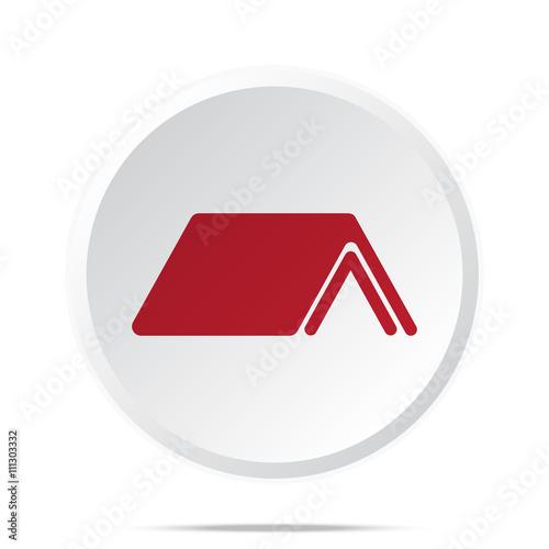 Red Roof Icon On White Web Button Kaufen Sie Diese Vektorgrafik
