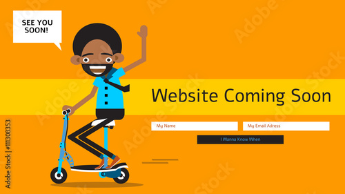 Coming Soon Webpage For New Or Under Construction Website With A