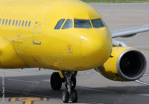 Obraz na plátně yellow airplane