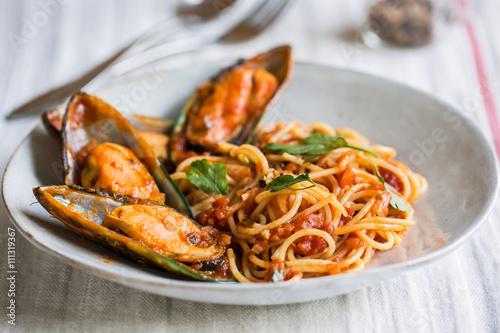 Poster Coquillage Spaghetti Marinara