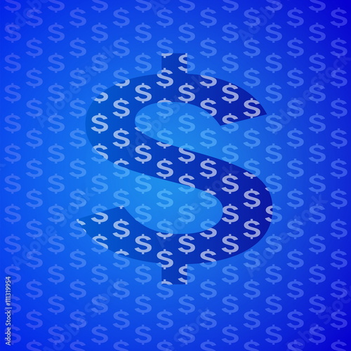 abstract blue business science and technology - 111319954