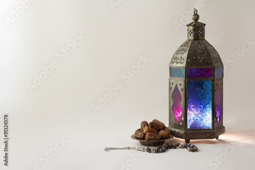 Oriental Colored Lantern With Dates fruit