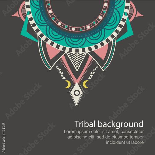 Foto auf AluDibond Boho-Stil boho aztec ornament print eps10