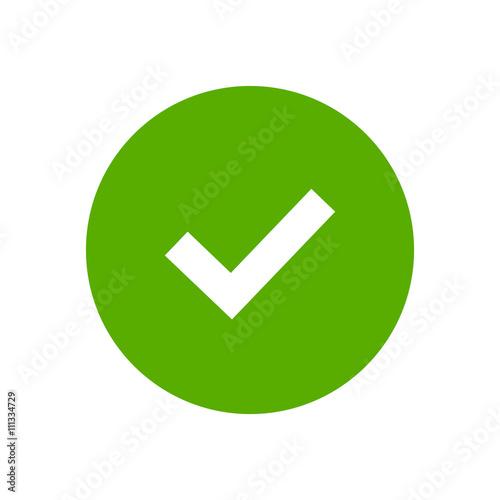 Fotografie, Obraz  Tick sign element