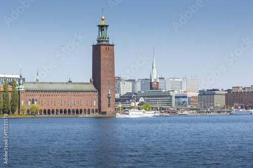 Staande foto Stockholm City Hall in Stockholm, Scandinavia, Sweden, Europe