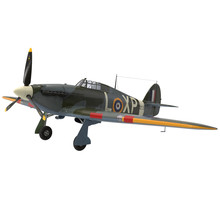 Hawker Hurricane Aircraft Isolated On White 3D Illustration