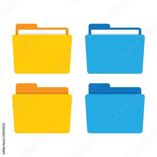 Fotografía File folder in flat style.