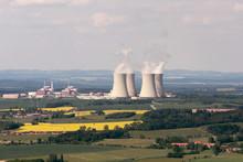 Nuclear Power Plant Temelin In The Czech Republic.