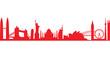 world landmark group in red