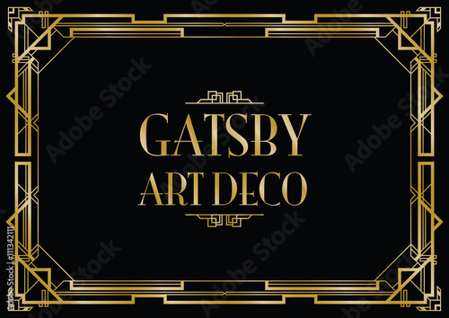 art deco background Canvas Print