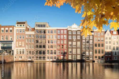 Traditional old buildings in Amsterdam, the Netherlands Wallpaper Mural