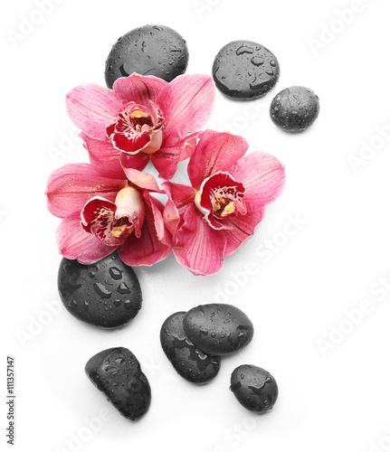 trzy-piekne-i-rozowe-orchidee-otoczone-kamieniami