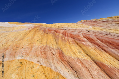 Yellow Rock - Multicolored sandstone rock in Grand Staircase-Escalante National Monument, Utah