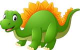 Fototapeta Dino - Cartoon happy dinosaur