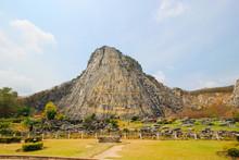 Khao Chee Chan And Golden Buddha Laser Carved , Sattahip, Chonburi, Thailand