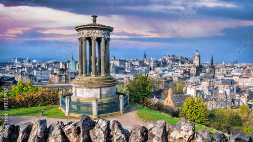 Zdjęcie XXL Edinburgh panorama z Calton Hill w Szkocji