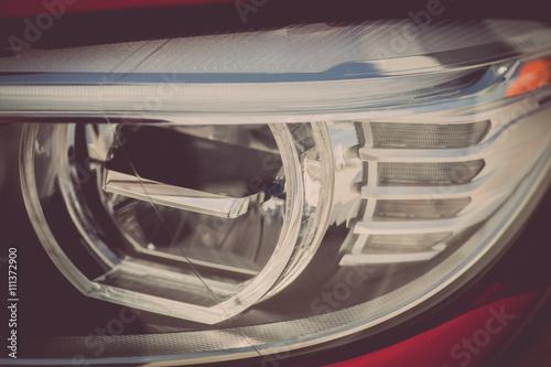 Spoed Foto op Canvas Stadion Car LED headlight