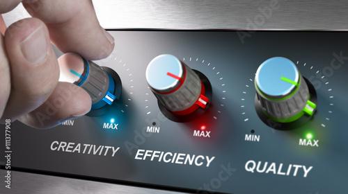 Obraz Company Values, Creativity, Efficiency and Quality - fototapety do salonu
