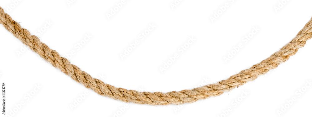 Fototapety, obrazy: Ship rope isolated on white background