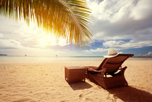 Luxury Sunbeds On The Beach