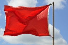 Life Guards Red Warning Flag O...
