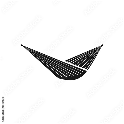 Camping hammock sign simple icon on background