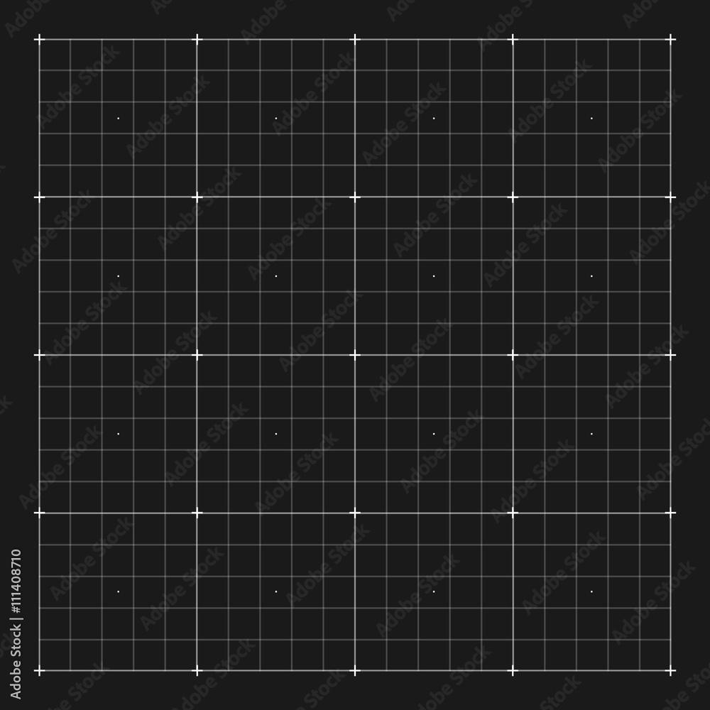 Fototapety, obrazy: Vector grid marking for user HUD interface