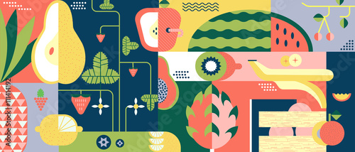 Fruit background abstract - 111414192
